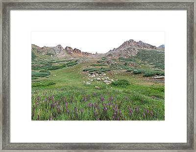 Framed Print featuring the photograph La Plata Peak by Cascade Colors
