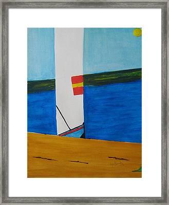 La Playa - The Beach. Framed Print by Roger Cummiskey