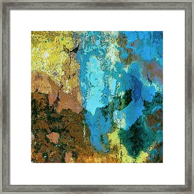 Framed Print featuring the painting La Playa by Dominic Piperata