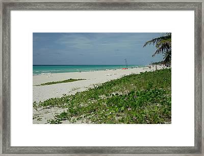 La Playa Mas Hermosa Framed Print