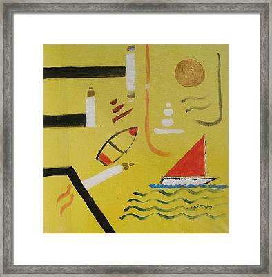 La Playa  Framed Print by Roger Cummiskey