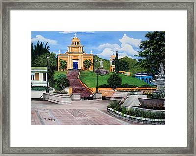 La Plaza De Moca Framed Print