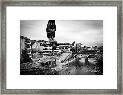 La Plongueuse Over The Midouze River Framed Print by RicardMN Photography
