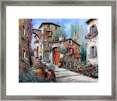 La Porta Rossa Framed Print