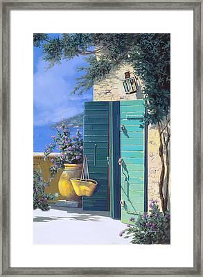 La Porta Verde Framed Print
