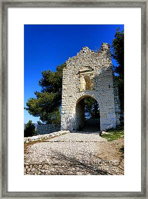 La Poterne In Allauch Framed Print by Olivier Le Queinec