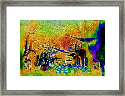 La Promenade Flashy Framed Print