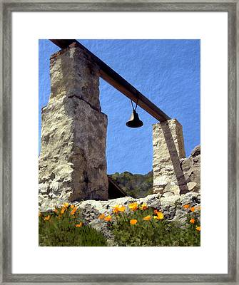 La Purisima Mission Bell Tower Framed Print by Kurt Van Wagner