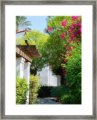 La Quinta Resort Walkway Impressions - Three Framed Print