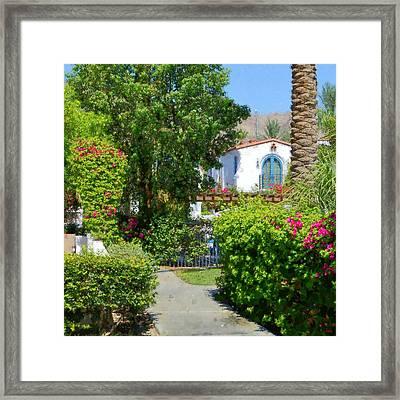 La Quinta Resort Walkway Impressions - One Framed Print