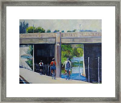 La River Bikepath Framed Print by Richard  Willson