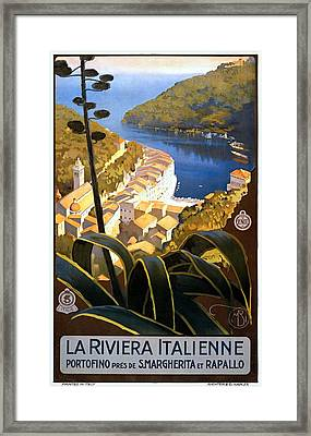 La Riviera Italienne, Travel Poster For Enit, Ca. 1920 Framed Print