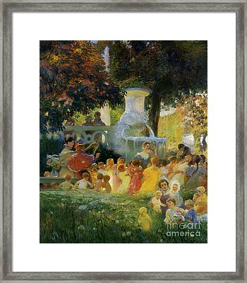 La Ronde Des Enfants  Framed Print by MotionAge Designs