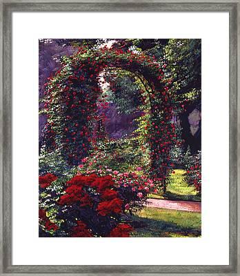 La Rosaeraie De Bagatelle Framed Print