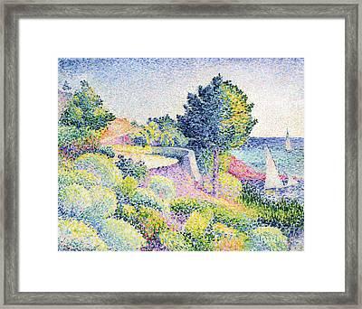 La Route Sur La Cote Framed Print