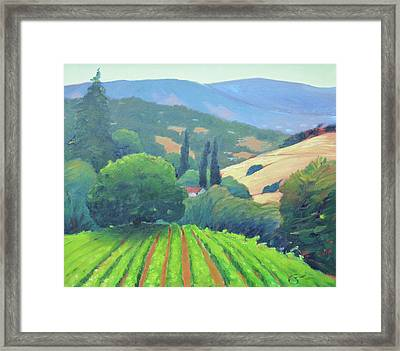 La Rusticana Afternoon. Framed Print