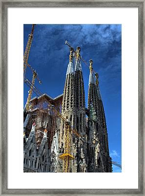Framed Print featuring the photograph La Sagrada Familia By Antonio Gaudi by Farol Tomson