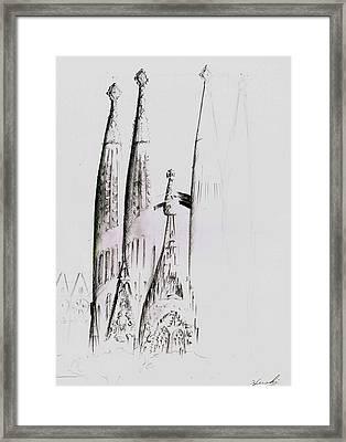 La Sagrada Familia Framed Print by Hiroki Uchida