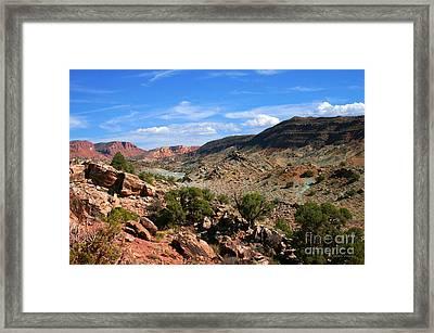 La Sal Canyon Arches National Park Framed Print