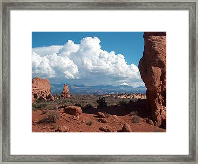 La Sal Mountains Framed Print by Janet  Hall