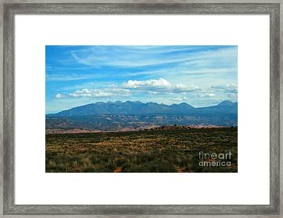 La Sal Mountains, Moab Utah Framed Print