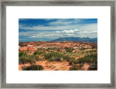 La Sal Mountains, Moab Utah, Usa Framed Print