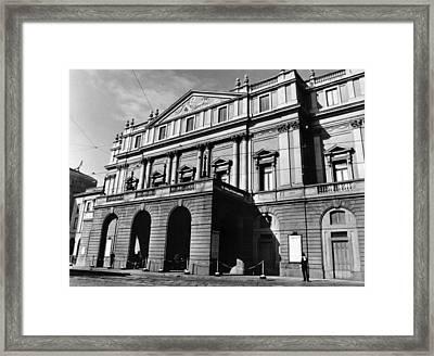La Scala, Opera House, In Milan, Italy Framed Print