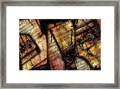 La Sonate De Ace Noir Framed Print by Gary Bodnar