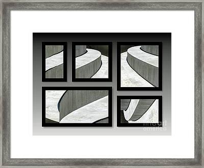 La Stairs Collage 01a Framed Print by Ausra Huntington nee Paulauskaite