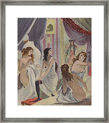 La Surprise Des Demoiselles D'honneur Framed Print by French School