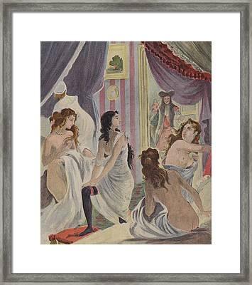 La Surprise Des Demoiselles D'honneur Framed Print