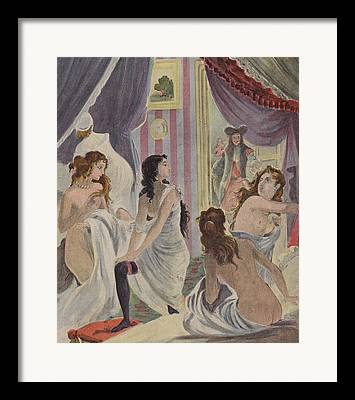 Demoiselles Drawings Framed Prints