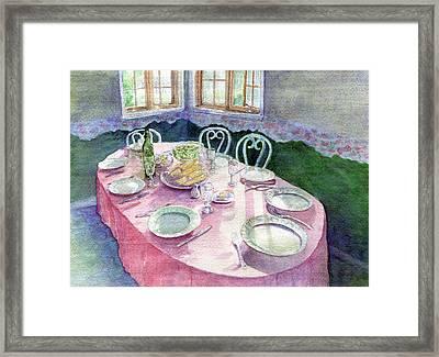 La Table De Fernande Framed Print