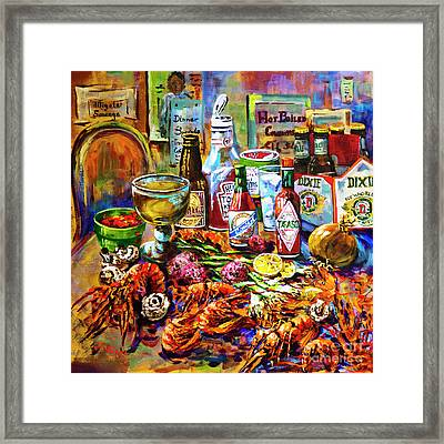 La Table De Fruits De Mer Framed Print