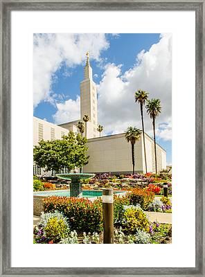 La Temple Gardens Framed Print by La Rae  Roberts
