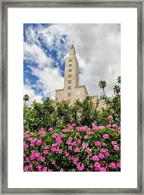 La Temple Pink Framed Print by La Rae  Roberts