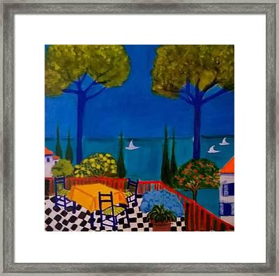 La Terasse En St Tropez Framed Print