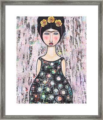 Framed Print featuring the mixed media La-tina by Natalie Briney