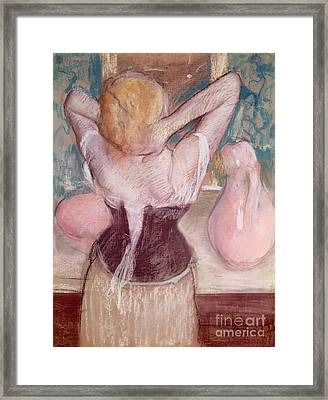 La Toilette Framed Print by Edgar Degas