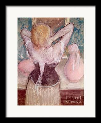 Hair-washing Paintings Framed Prints