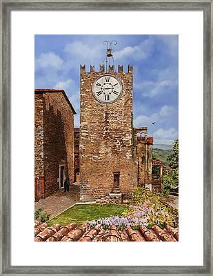 La Torre Del Carmine-montecatini Terme-tuscany Framed Print by Guido Borelli