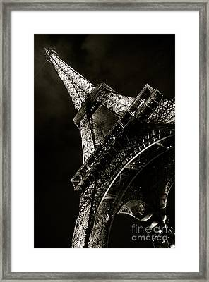 La Tour A Nuit Framed Print by Louise Fahy