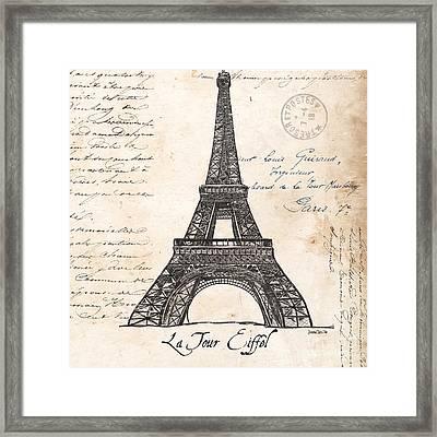La Tour Eiffel Framed Print by Debbie DeWitt