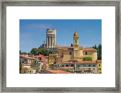 La Turbie Lovely Village In Southern France Framed Print by Melanie Viola