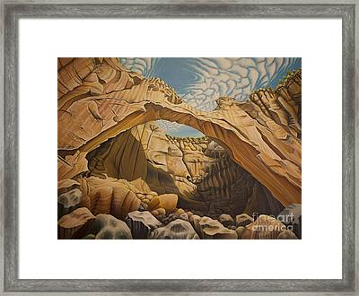 La Vantana Natural Arch Framed Print by Tish Wynne