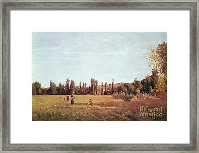 La Varenne De St. Hilaire Framed Print by Camille Pissarro