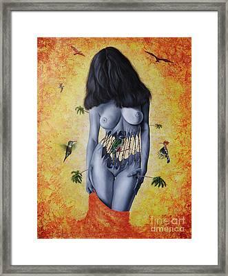 La Verdad Desnuda Framed Print