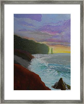 La Verna Sunrise Framed Print