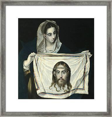 La Veronica Con La Santa Faz  Framed Print by El Greco