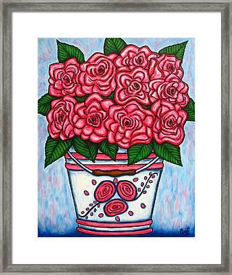 La Vie En Rose Framed Print by Lisa  Lorenz